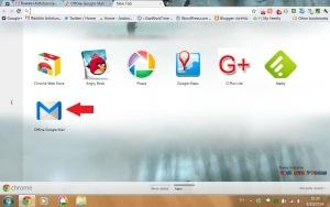 ทดสอบ OFFLINE GOOGLE MAIL – GMAIL APP จาก CHROME WEB STORE