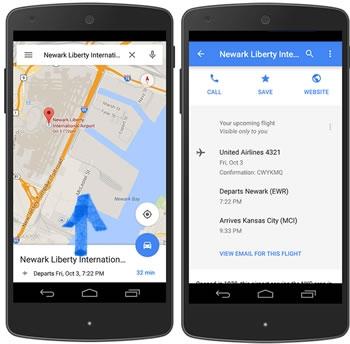 ค้นหาข้อมูลการจอง เที่ยวบิน และอื่นๆ ใน Maps
