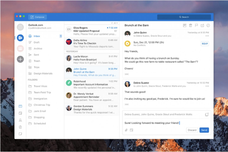 Microsoft ออกแบบ Outlook ใหม่สำหรับ Mac และ Windows