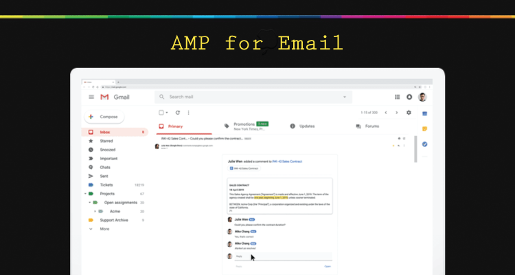 เทคโนโลยี AMP for Email บน Gmail